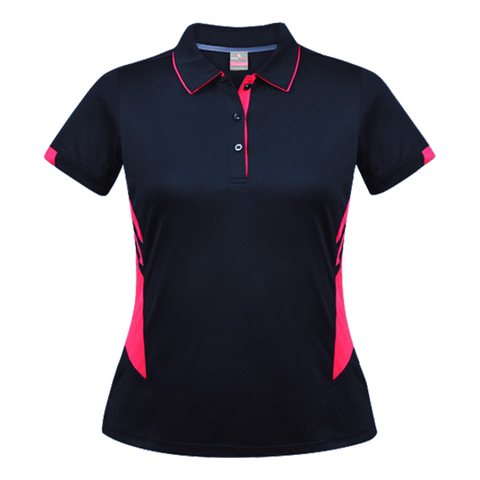 Womens Tasman Polo - Colours Navy / Neon Pink