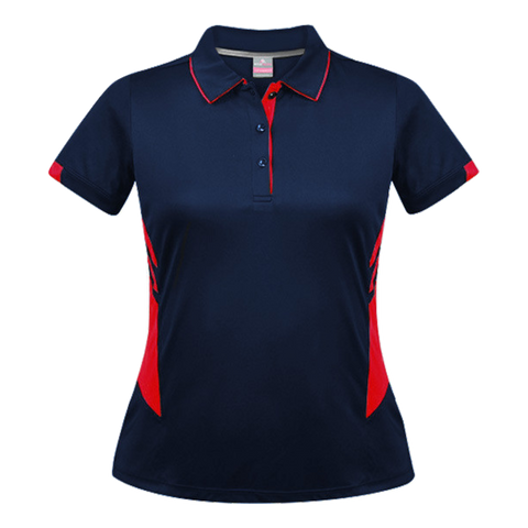 Womens Tasman Polo - Colours Navy / Red