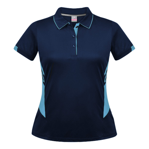 Womens Tasman Polo - Colours Navy / Sky