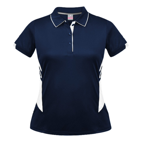 Womens Tasman Polo - Colours Navy / White