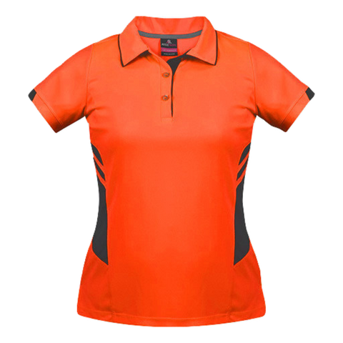 Womens Tasman Polo - Colours Neon Orange / Slate