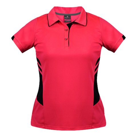 Womens Tasman Polo - Colours Neon Pink / Black