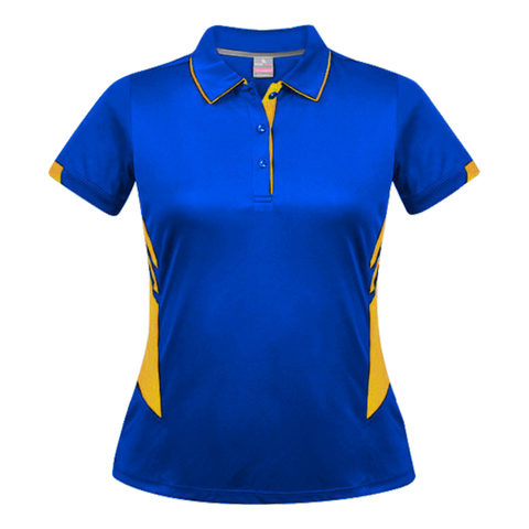 Womens Tasman Polo - Colours Royal / Gold