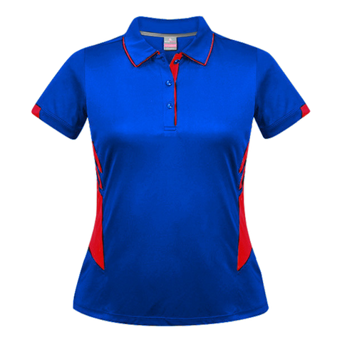 Womens Tasman Polo - Colours Royal / Red