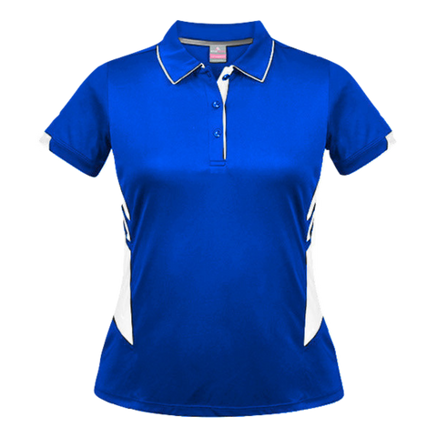 Womens Tasman Polo - Colours Royal / White