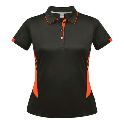Womens Tasman Polo - Colours Slate / Neon Orange