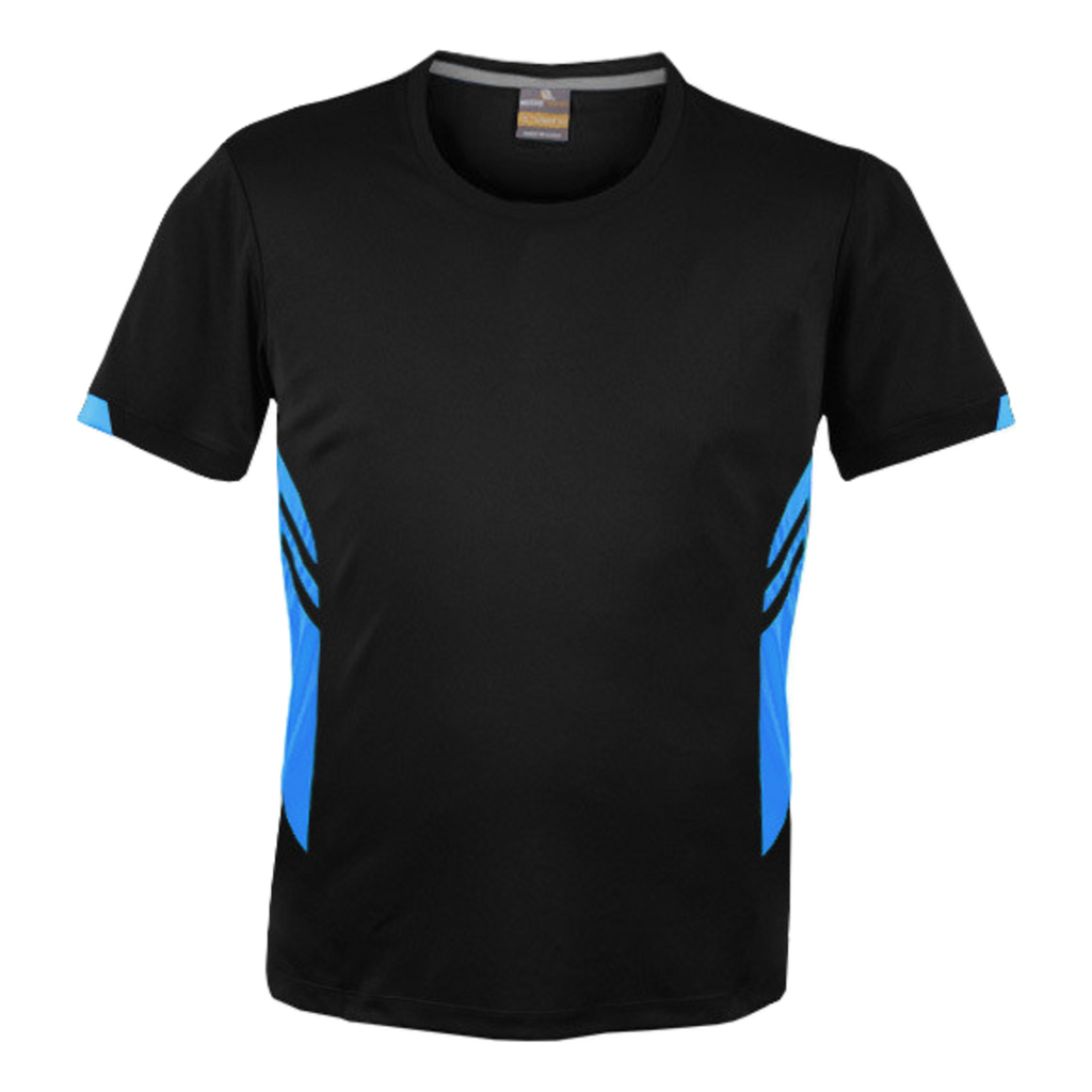 Mens Tasman Tee - Colours Black / Cyan