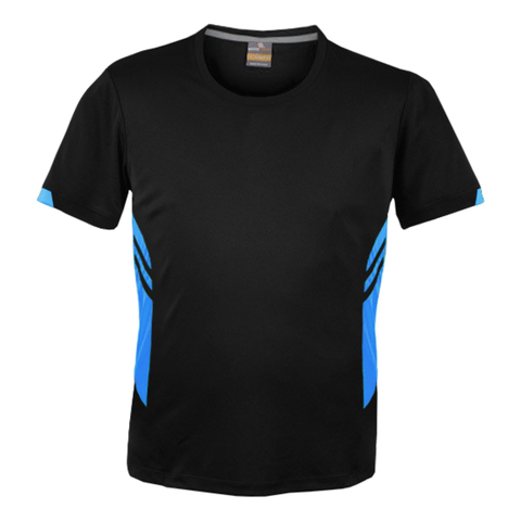 Image of Mens Tasman Tee - Colours Black / Cyan