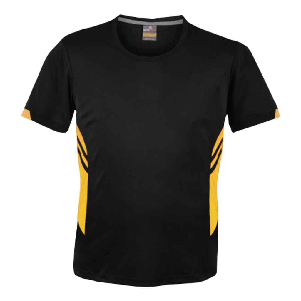 Mens Tasman Tee - Colours Black / Gold