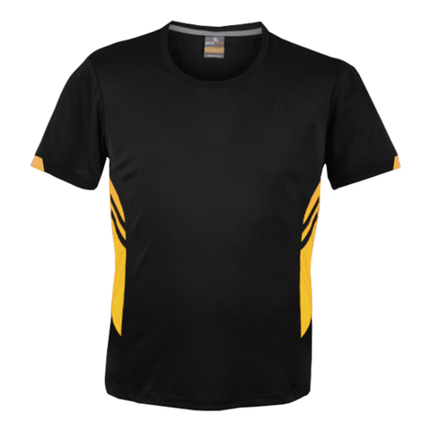 Image of Mens Tasman Tee - Colours Black / Gold