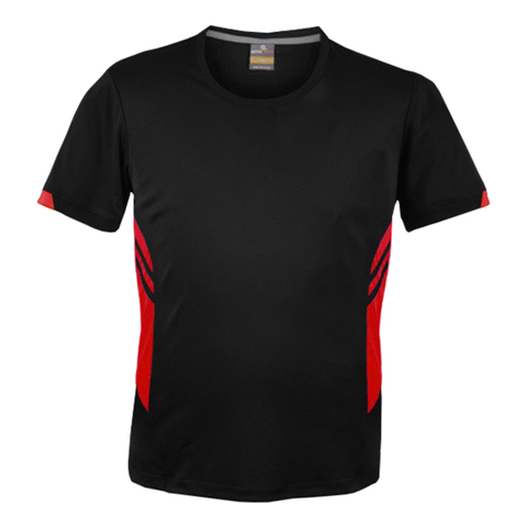 Image of Mens Tasman Tee - Colours Black / Red