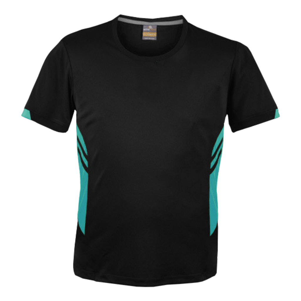 Mens Tasman Tee - Colours Black / Teal