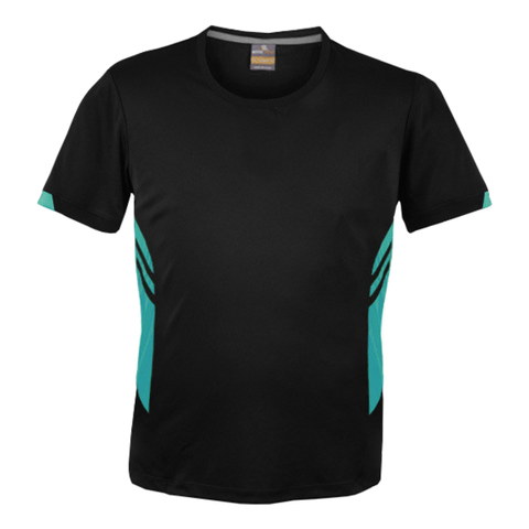 Image of Mens Tasman Tee - Colours Black / Teal