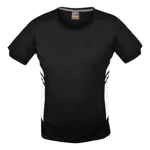 Image of Mens Tasman Tee - Colours Black / White