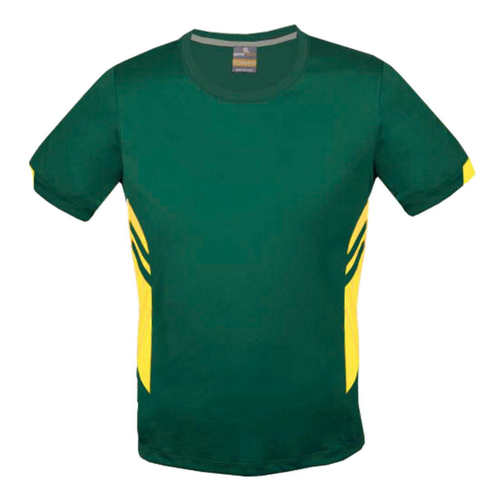 Mens Tasman Tee - Colours Bottle / Gold