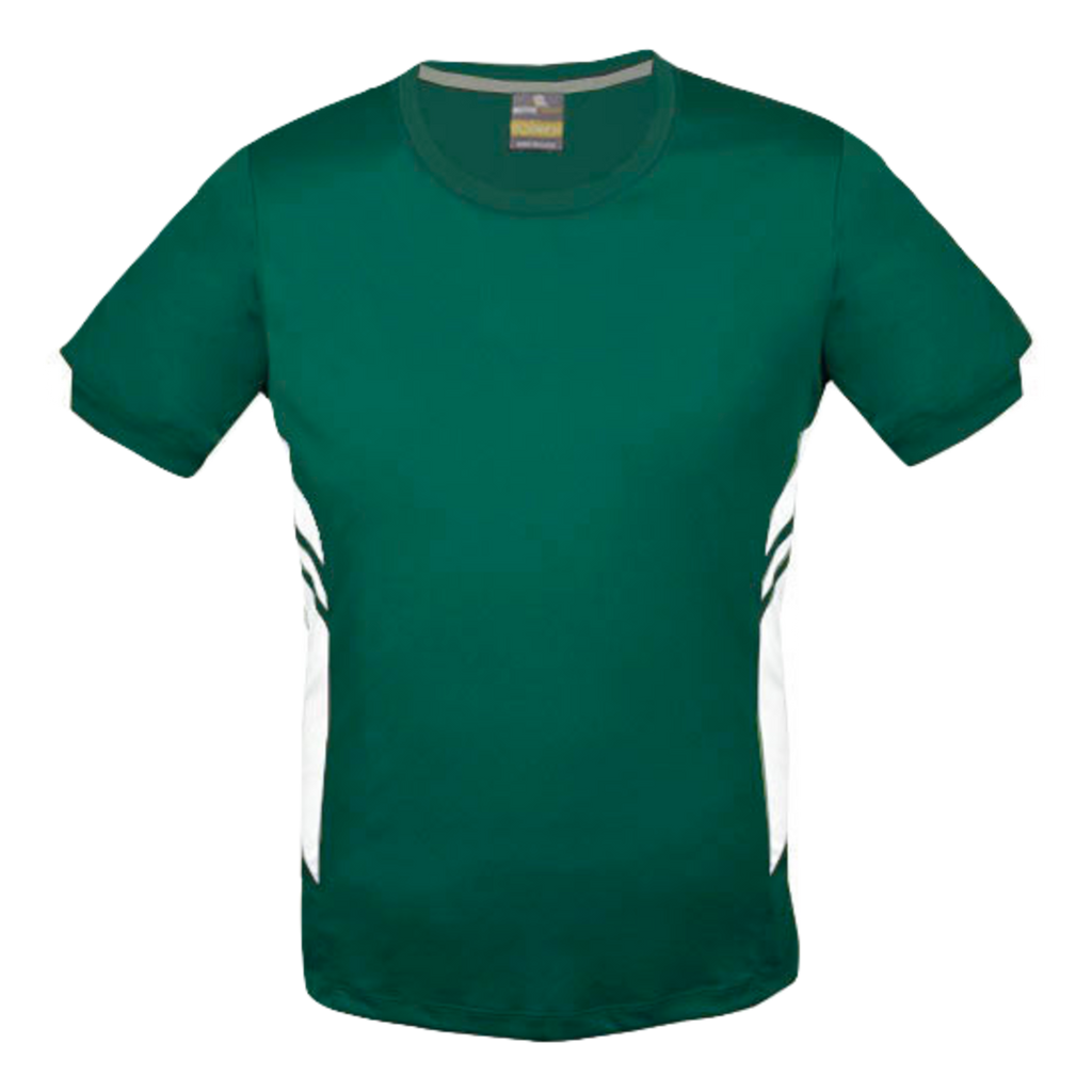 Mens Tasman Tee - Colours Bottle / White