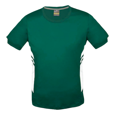 Image of Mens Tasman Tee - Colours Bottle / White