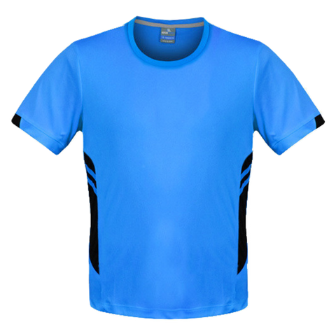 Image of Mens Tasman Tee - Colours Cyan / Black