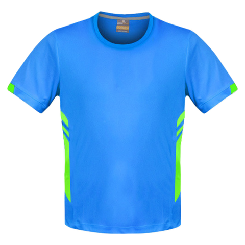 Image of Mens Tasman Tee - Colours Cyan / Neon Green