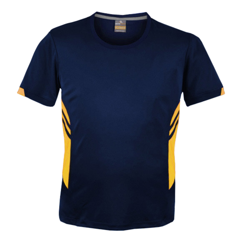 Mens Tasman Tee - Colours Navy / Gold