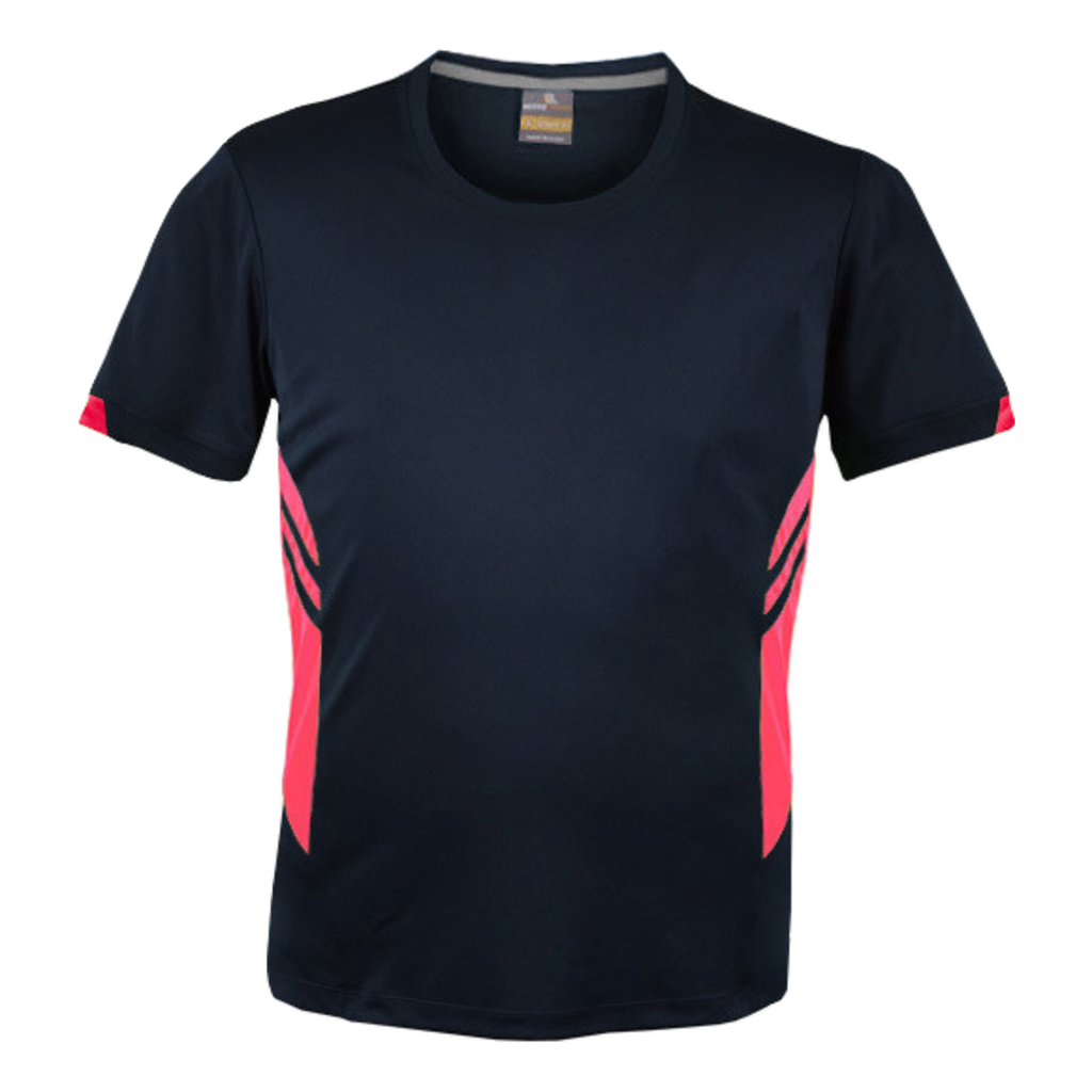 Mens Tasman Tee - Colours Navy / Neon Pink