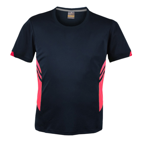 Image of Mens Tasman Tee - Colours Navy / Neon Pink