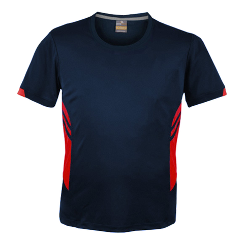 Image of Mens Tasman Tee - Colours Navy / Red