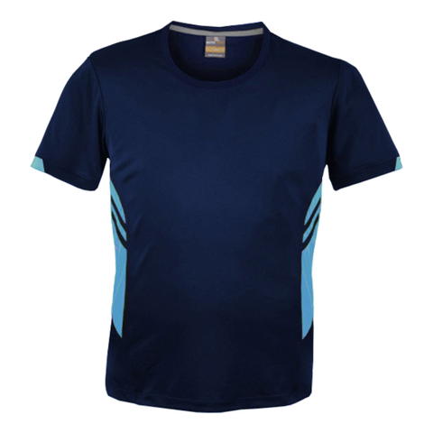 Image of Mens Tasman Tee - Colours Navy / Sky