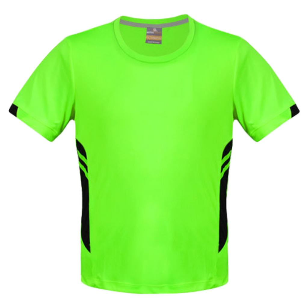Mens Tasman Tee - Colours Neon Green / Black
