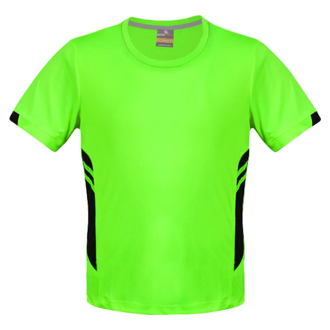 Image of Mens Tasman Tee - Colours Neon Green / Black