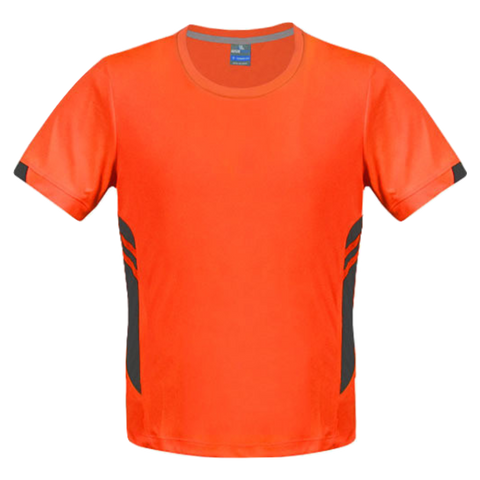 Image of Mens Tasman Tee - Colours Neon Orange / Slate