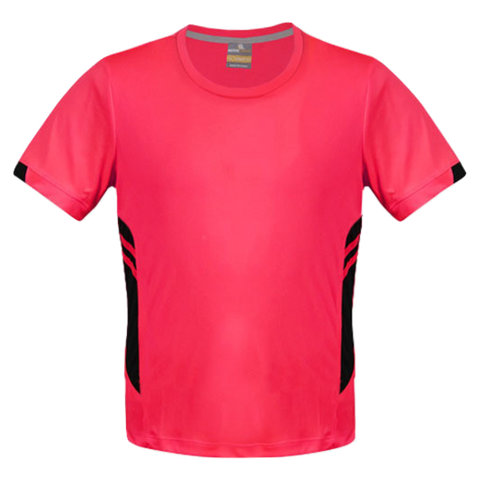 Image of Mens Tasman Tee - Colours Neon Pink / Black