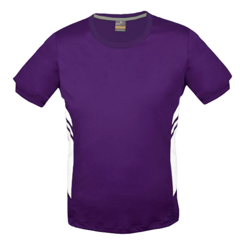 Image of Mens Tasman Tee - Colours Purple / White