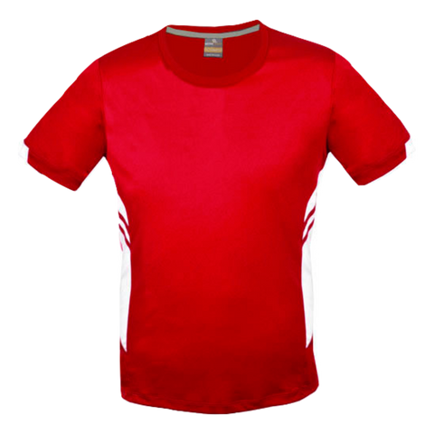 Image of Mens Tasman Tee, Colours: Red / White