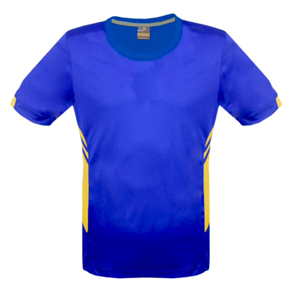 Mens Tasman Tee - Colours Royal / Gold