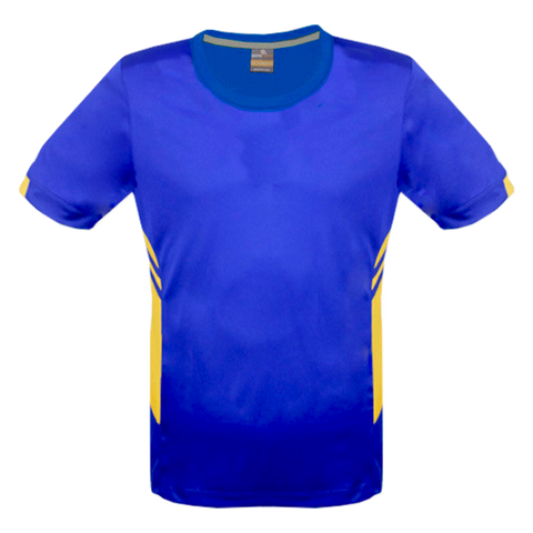 Image of Mens Tasman Tee - Colours Royal / Gold