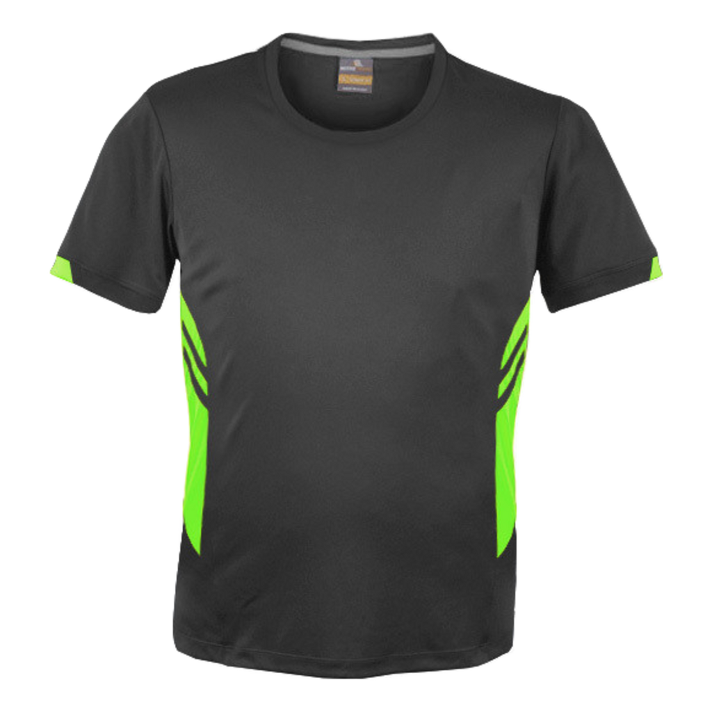 Mens Tasman Tee - Colours Slate / Neon Green