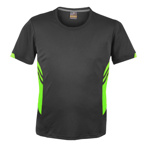 Image of Mens Tasman Tee - Colours Slate / Neon Green