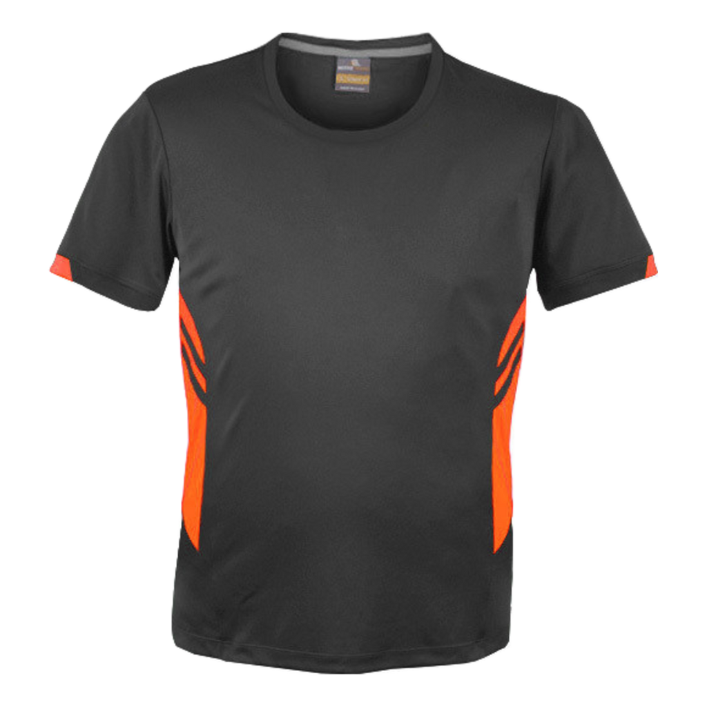 Mens Tasman Tee - Colours Slate / Neon Orange