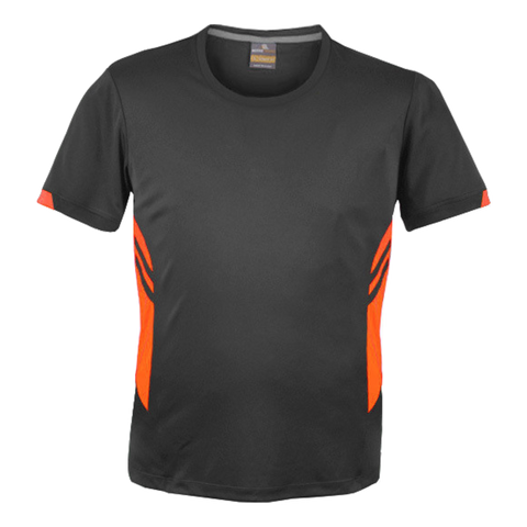 Image of Mens Tasman Tee - Colours Slate / Neon Orange