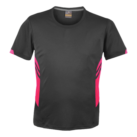Image of Mens Tasman Tee - Colours Slate / Neon Pink