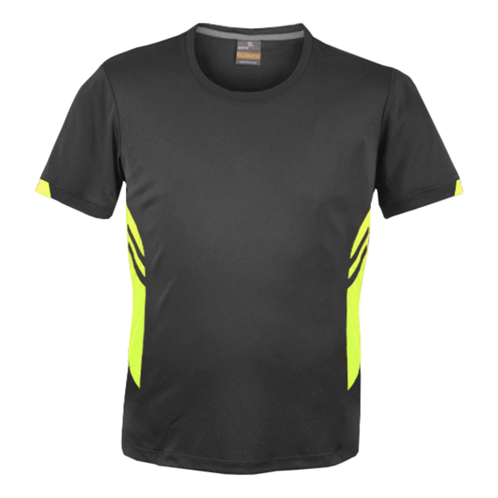 Mens Tasman Tee - Colours Slate / Neon Yellow