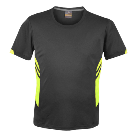 Image of Mens Tasman Tee - Colours Slate / Neon Yellow