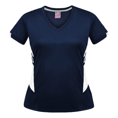 Image of Womens Tasman Tee - Colours Navy / White