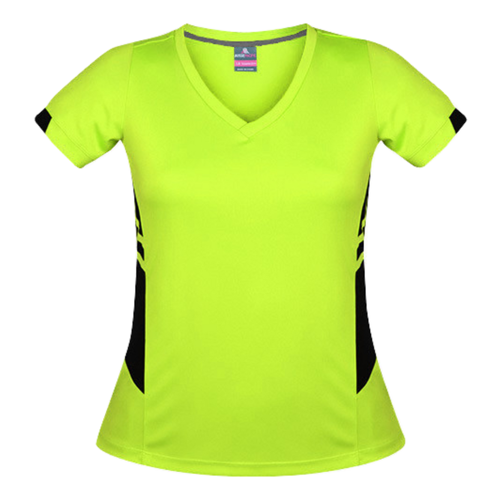 Womens Tasman Tee, Colours: Neon Yellow / Black
