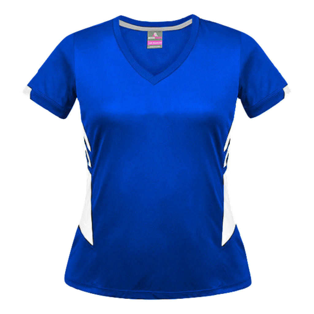 Womens Tasman Tee, Colours: Royal / White