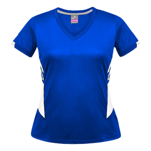 Womens Tasman Tee - Colours Royal / White