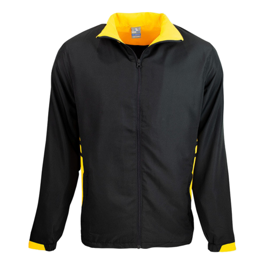 Adults Tasman Track Jacket - Colours Black / Gold