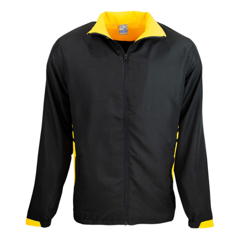 Adults Tasman Track Jacket, Colours: Black / Gold