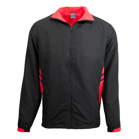 Adults Tasman Track Jacket, Colours: Black / Red